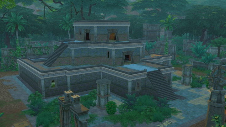 The Sims 4 Jungle Adventure Game Pack: A temple to explore