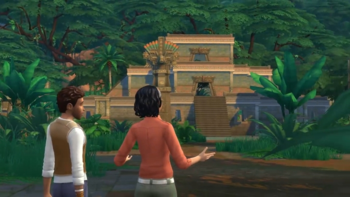 The Sims 4 Jungle Adventure Game Pack: Ancient temple