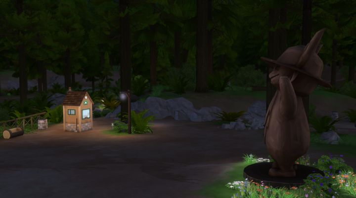 The Forest Ranger's Aid Station lets you buy Supplies for your Sims' Adventures