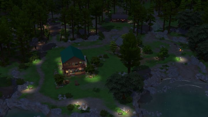 The Campgrounds of Granite Falls at Night