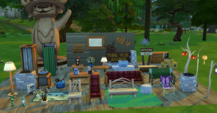 Picture of New Objects and Furniture in Outdoor Retreat