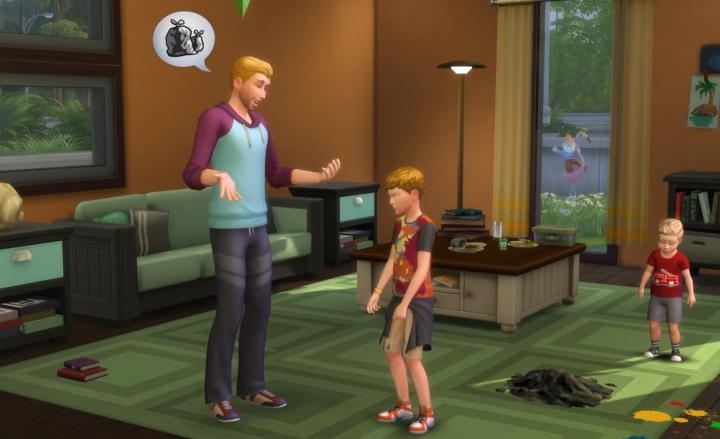 The Sims 4 Parenthood Game Pack: Telling a kid to take out the trash