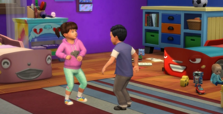 The Sims 4 Parenthood Addon features sibling rivalries
