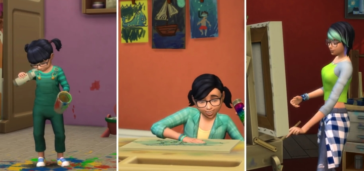 The Sims 4 Parenthood Game Pack affects toddler, child, and teen life stages but development follows them into adulthood.