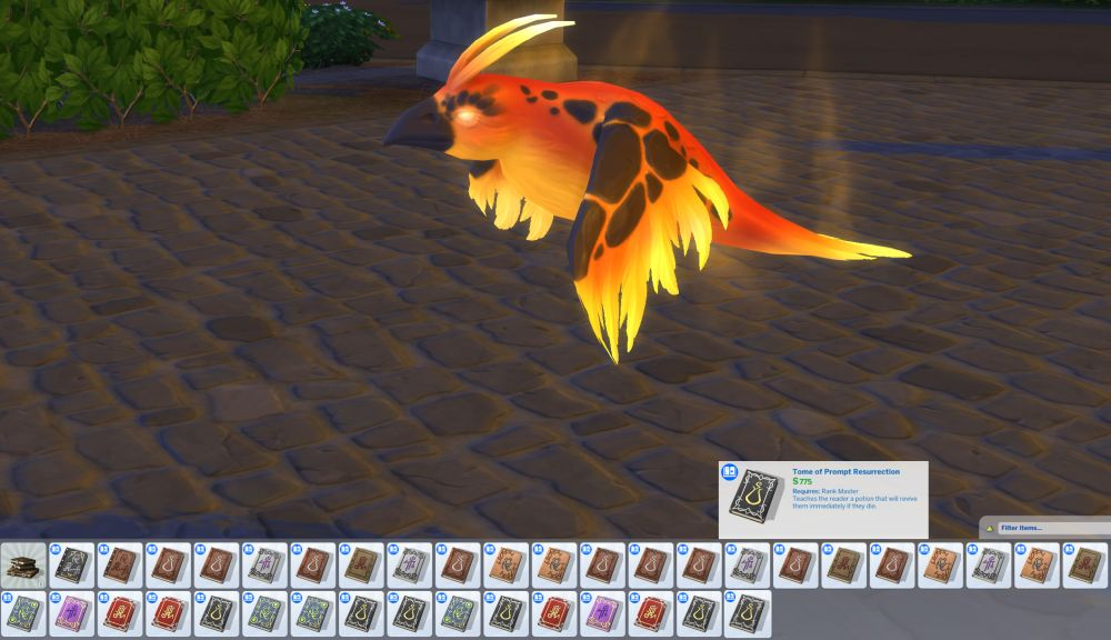Cheat potion recipes and spells in The Sims 4 Realm of Magic