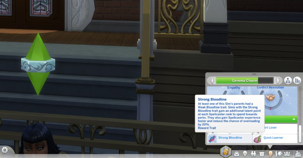 Trait cheats in The Sims 4 Realm of Magic