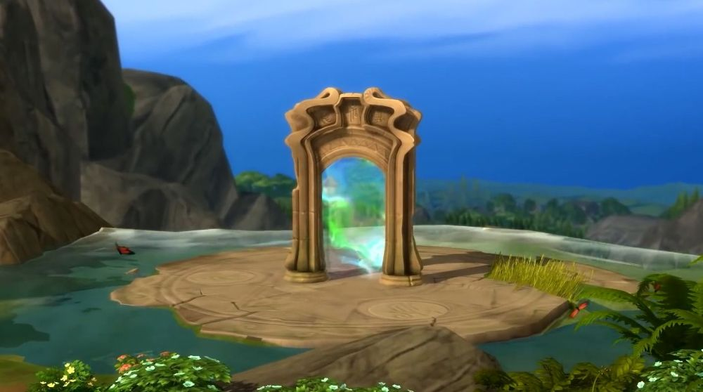 Crossing through this portal leads to the Magic Realm.