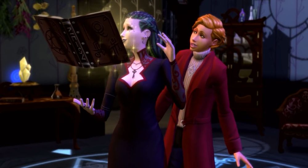 Sims spells are kept in the spellbook in Realm of Magic Game Pack