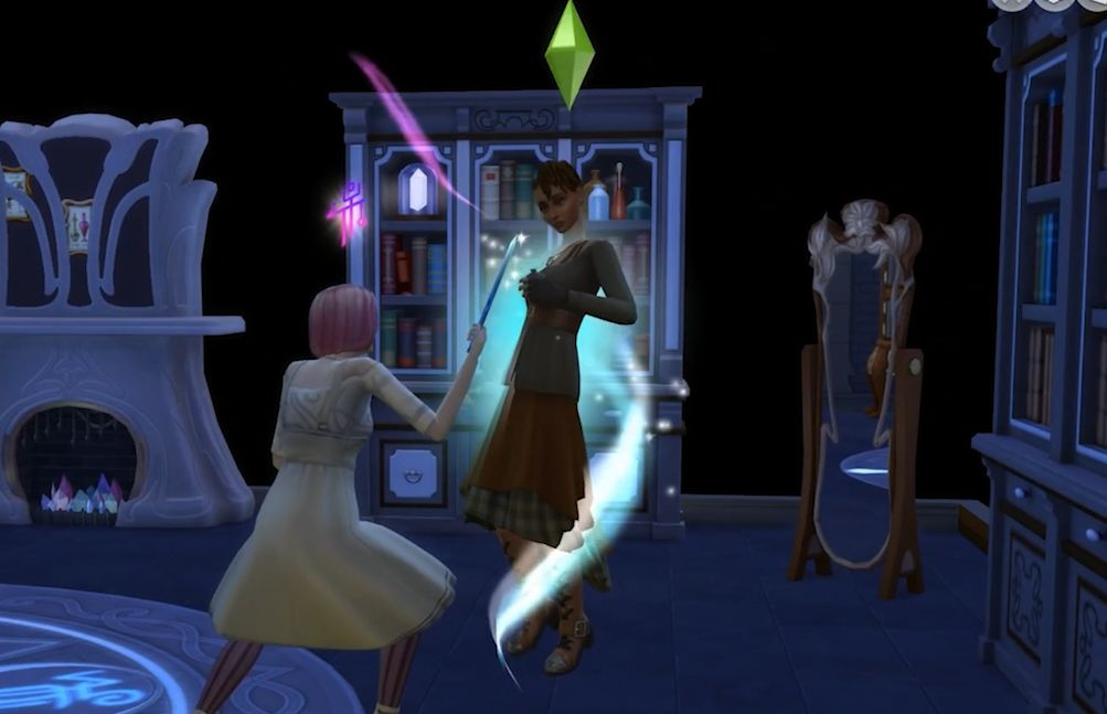 A Sim becomes a Spellcaster in The Sims 4 Realm of Magic