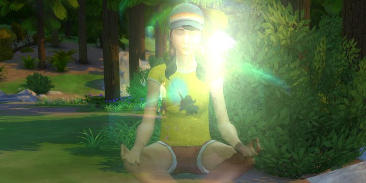 Practicing Meditation eventually allows your Sim to teleport