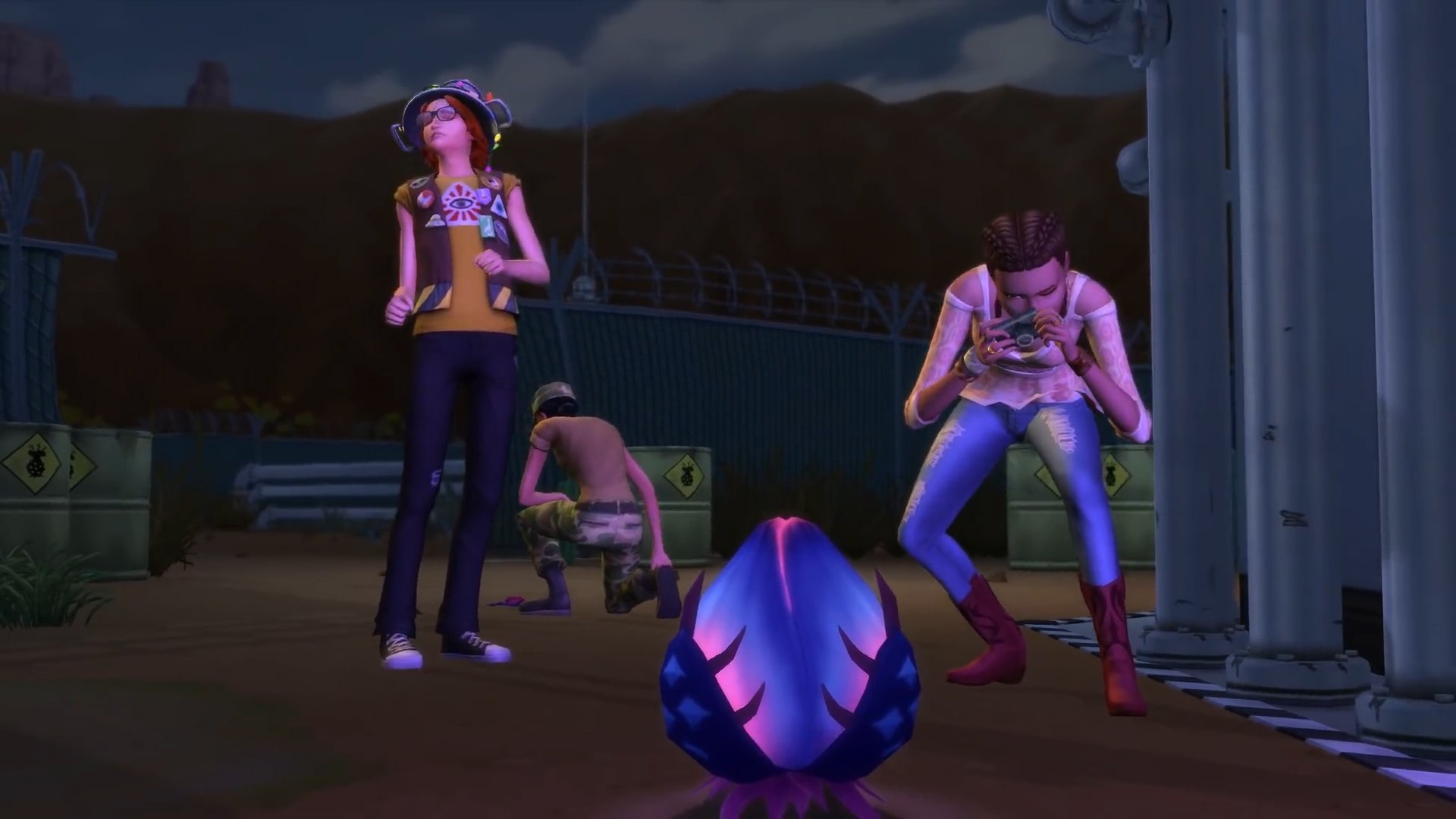 The Sims 4 Strangerville - Alien Goop being investigated