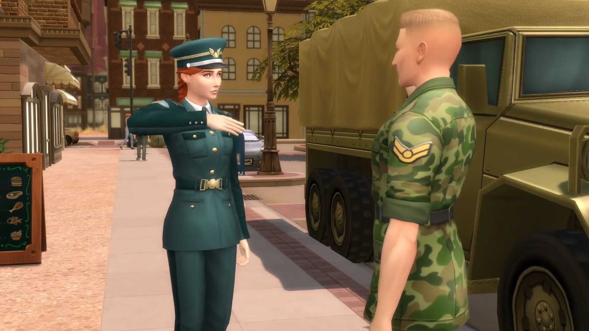 The Sims 4 Strangerville - Military career in this addon