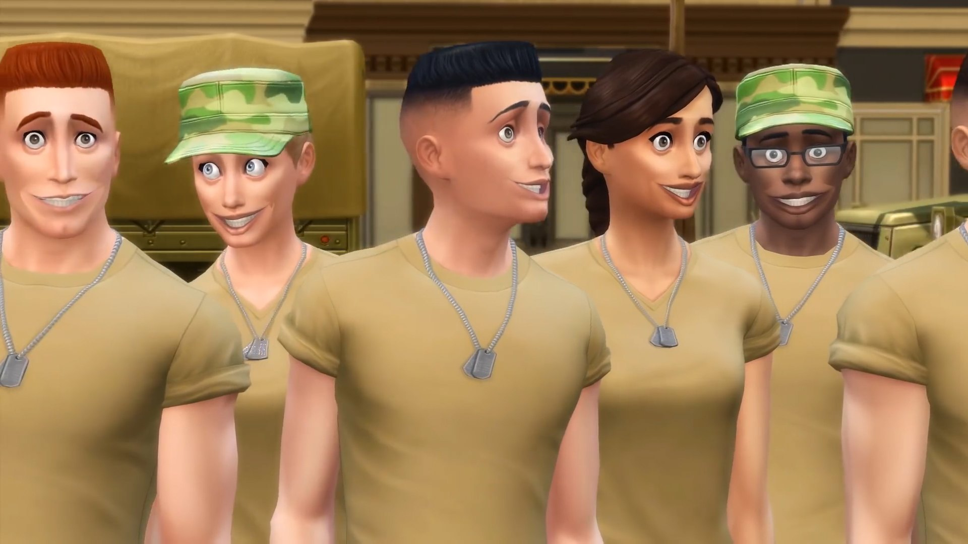 The Sims 4 Strangerville - new military recruits for the military base