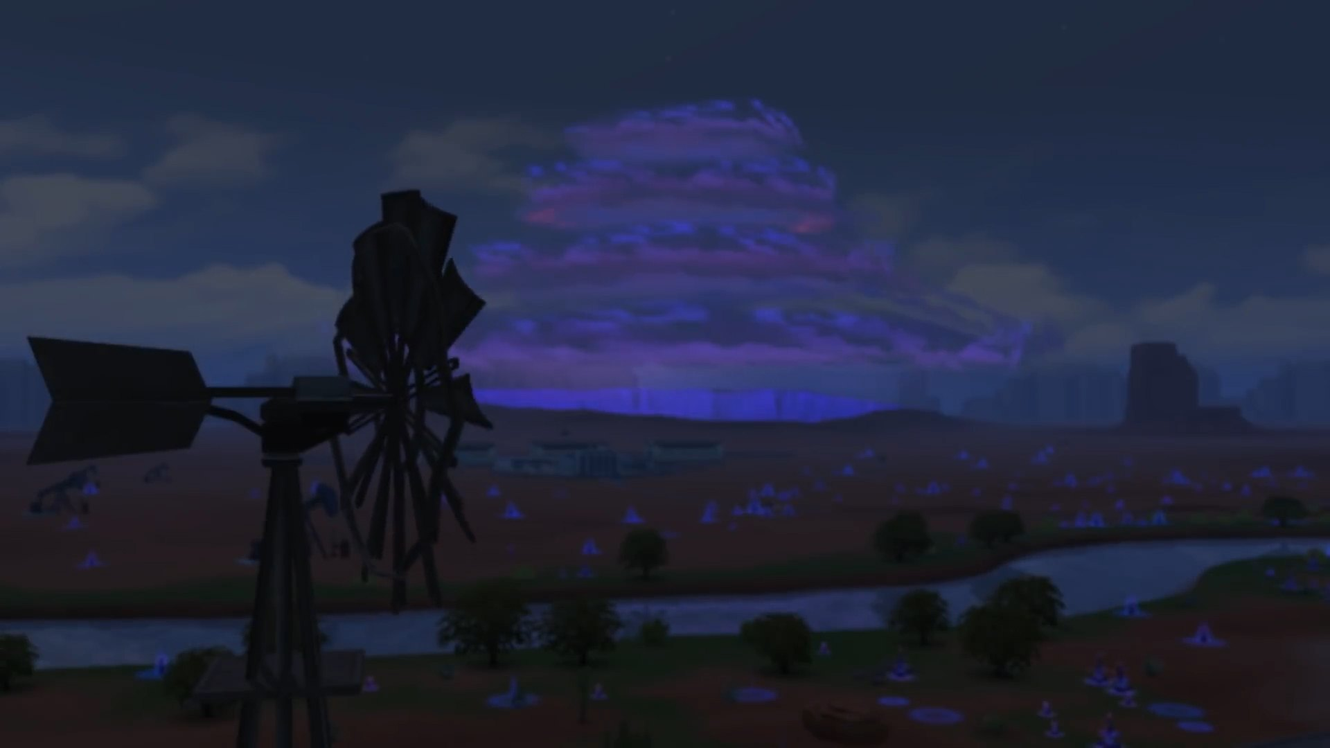The Sims 4 Strangerville - Storm over the whole town