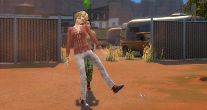 The Sims 4 StrangerVille - The player Sim scans for spores to help make a vaccine