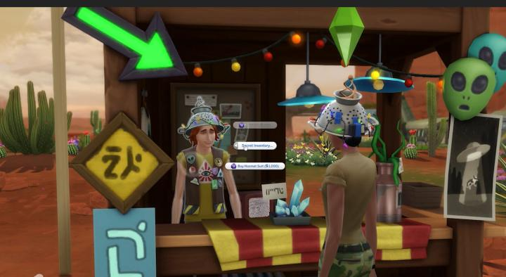 The Sims 4 StrangerVille Buying a Hazmat Suit from the Curio's Secret Inventory