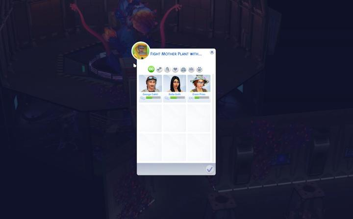 Ask Sims to fight the mother plant in Sims 4