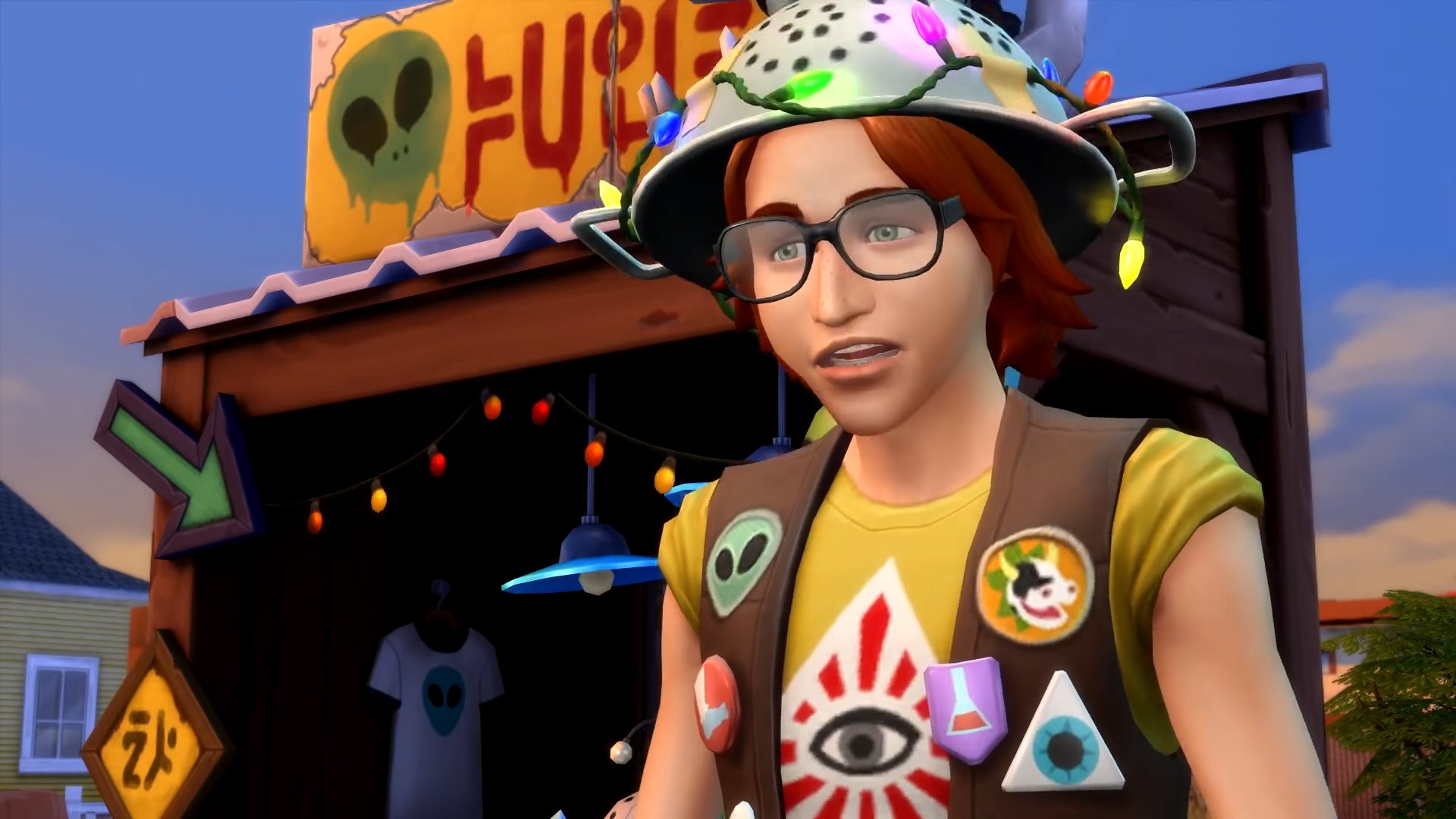 The Sims 4 Strangerville - Don your tinfoil hat to protect against mind control