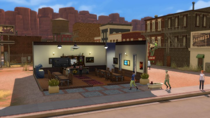 Military often gather at the bar in StrangerVille