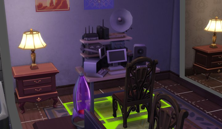 A listening device for gathering intel for blackmail or evidence for the mystery investigation in The Sims 4 Strangerville Game Pack