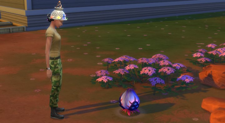 The Sims 4 Strangerville Game Pack - strange plants seem central to the mystery in StrangerVille