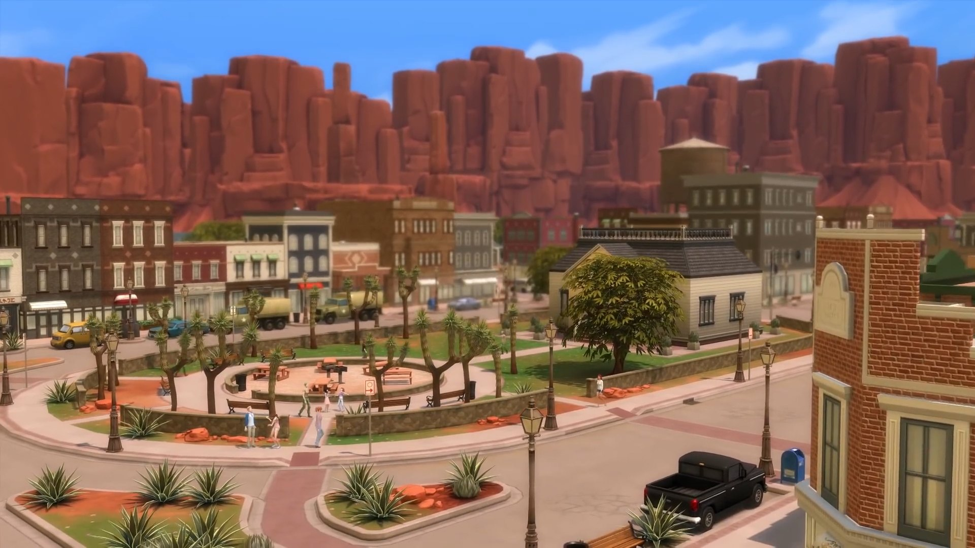 The Sims 4 Strangerville - The new town featured in the game pack.
