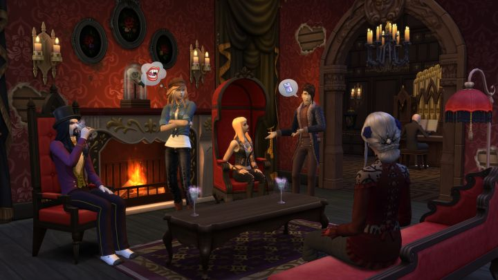 The Sims 4 Vampires: features such as furniture, objects, and decor