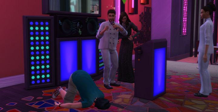 The Sims 4 Vampires: A Sim passed out after having been fed upon