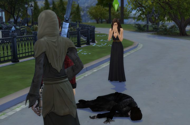 The Sims 4: vampire was killed from being in the sun