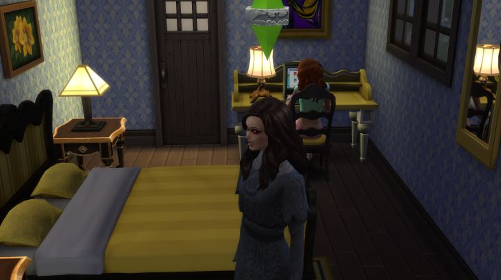 Visiting a Sim's house at night vampire Sims 4