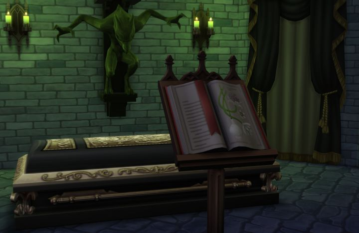 The Sims 4 Vampires: Sleep in a coffin to regenerate Vampire Energy