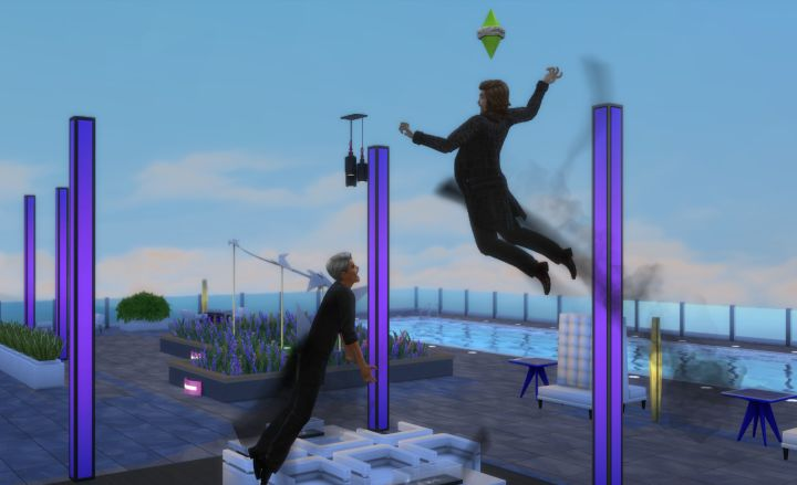 Vampire duel in The Sims 4