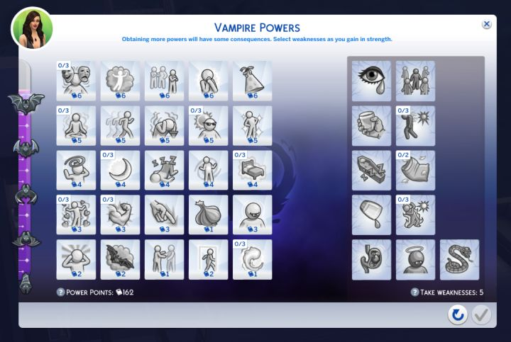 What vampire powers do for your Sim