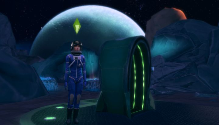 Exploring the planet Sixam in The Sims 4