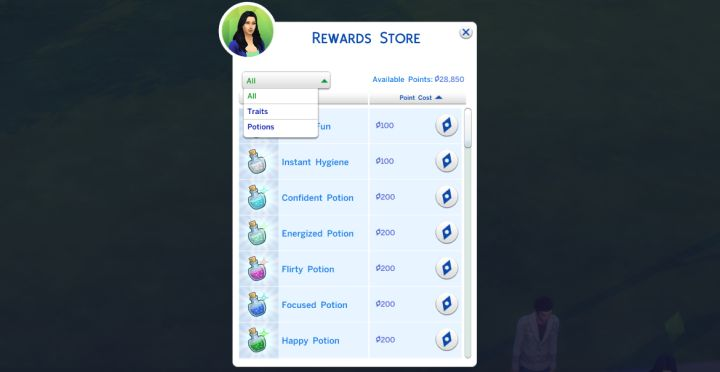 The Sims 4 Rewards Store