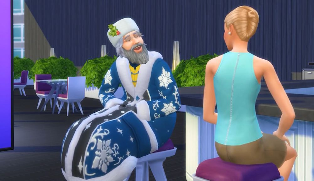 Father Winter in The Sims 4 Seasons