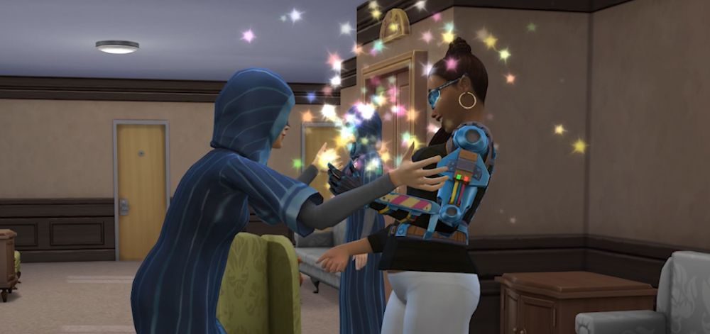 A Sim joins the Secret Society in The Sims 4 Discover University