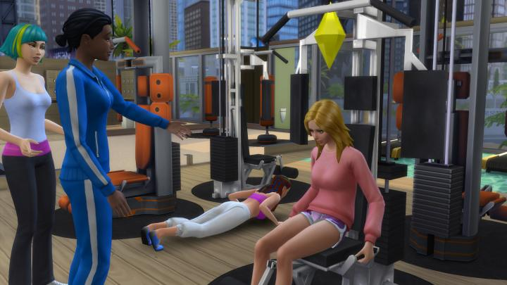 Working out in  The Sims 4 helps to burn calories