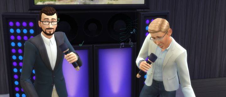 The Sims 4 City Living Singing in Karaoke