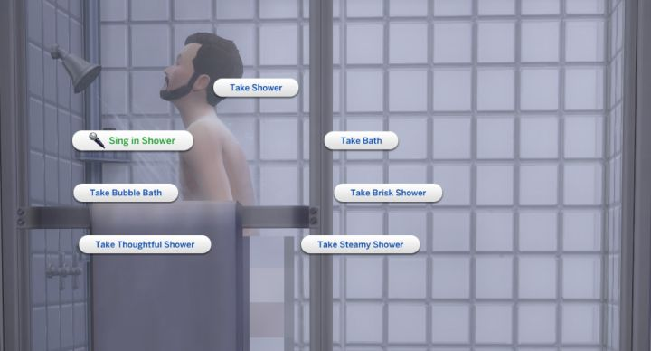 The Sims 4 City Living Singing: Singing in the Shower