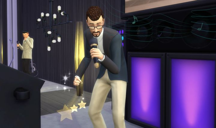 The Sims 4 City Living Singing
