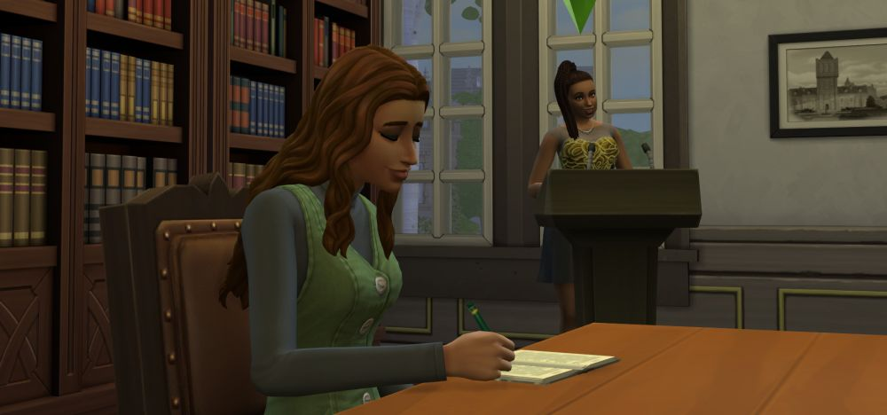 Convincing other Sims with The Research and Debate Skill in The Sims 4 Discover University