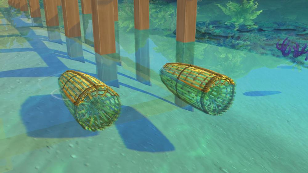 The Sims 4 Island Living features fish traps which can catch fish automatically