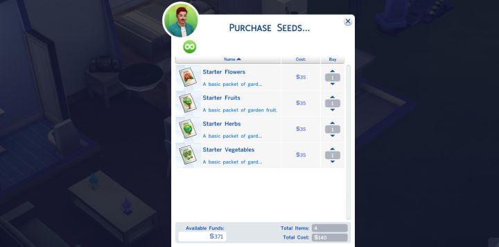 Sims 4 Gardening - Buying Seeds to get Started