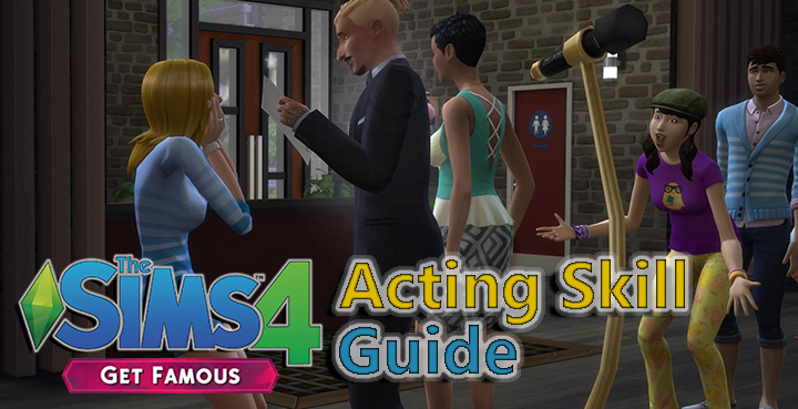 The Sims 4 Acting Skill in the Get Famous Expansion Pack