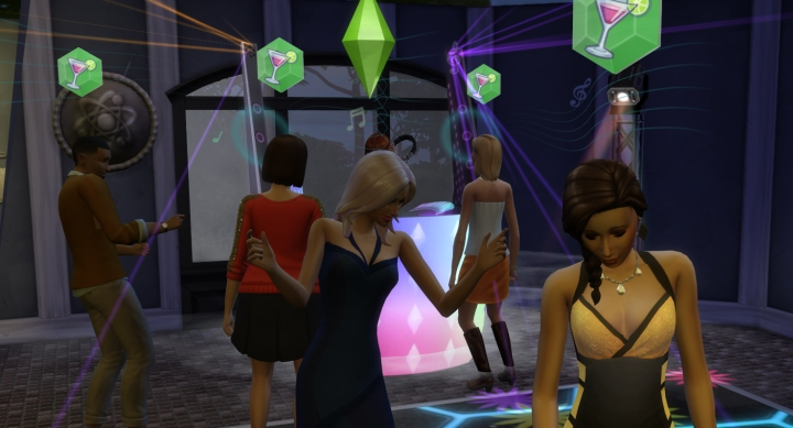 A Sim party in Get Together