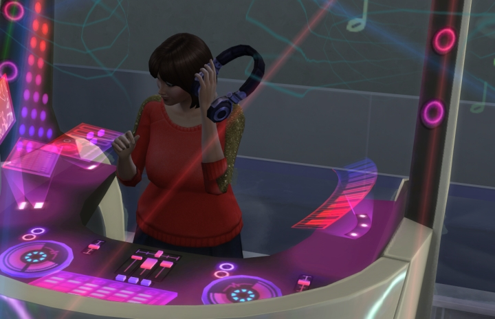 Being a DJ Mixer in The Sims 4 Get Together Expansion Pack