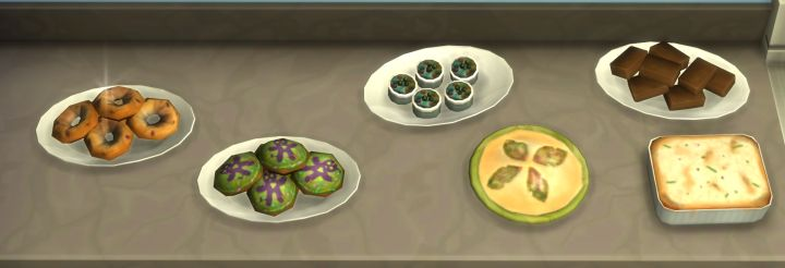The Sims 4 Get to Work: Baking Recipes