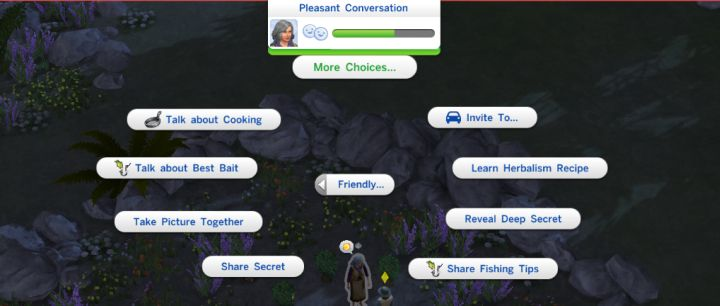 Sims 4 Outdoor Retreat - Learn a Recipe from the Hermit of Granite Falls