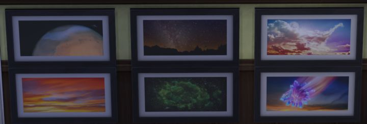 The Space Prints Collection in Sims 4